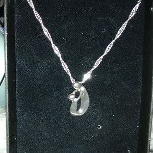 Jewelry - Mother & Child Love Embrace 925 silver Pendant